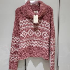 Hippie Rose Sweater Size L NWT